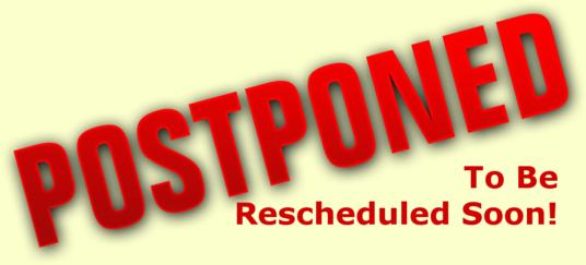 Game postponed
