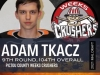 Adam Tkacz selected in the 9th