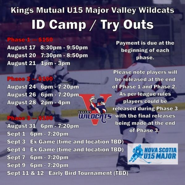 Wildcats ID Camps/Try Outs in August!