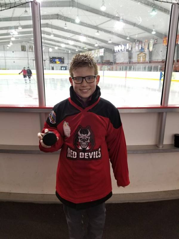 First AA Peewee Red Devils Goal