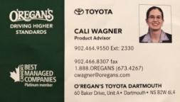 Cali Wagner - O'Regans Toyota Dartmouth