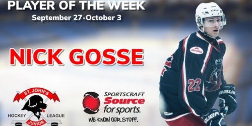 Renegades' Gosse Selected as Sportscraft Source for...
