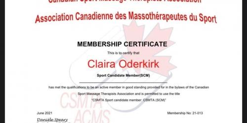 Congratulations Claira!